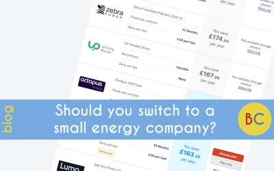 Should you switch to a small energy company?