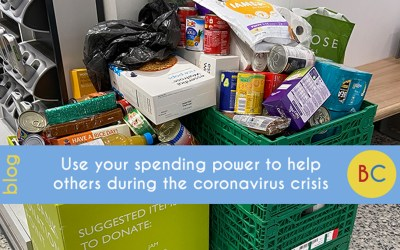 Use your spending power to help others during the coronavirus crisis.