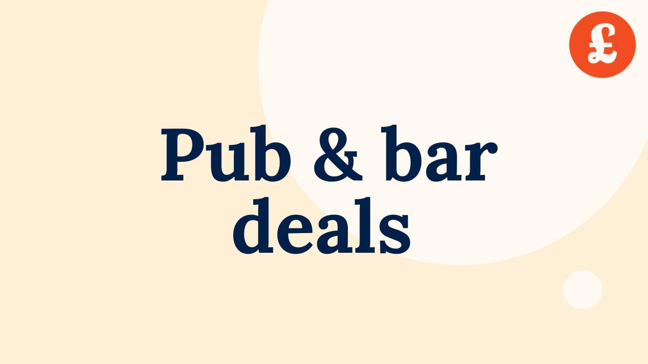 pub and bar deals