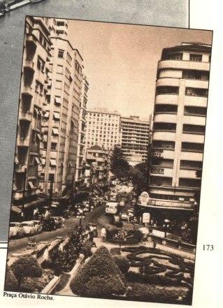 A praça Otávio Rocha, e a avenida Otávio Rocha, décadas de 1940-50.