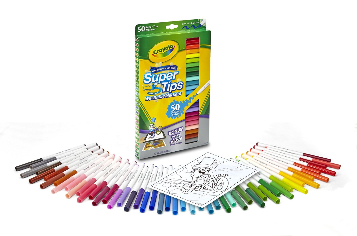 Crayola Washable Super Tips Markers 50Count Only 557  Become a Coupon Queen