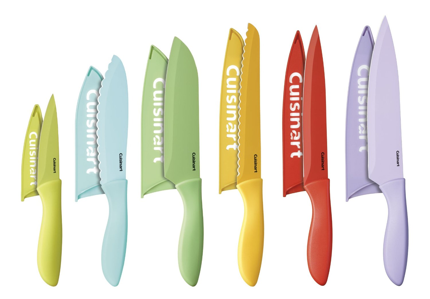 Today Only Cuisinart 12Piece Ceramic Coated Color Knife