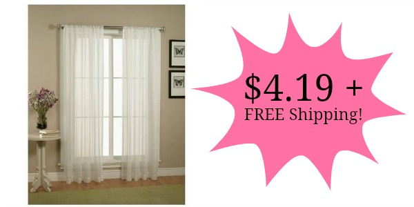 2 Piece Sheer Window Curtains Only 419 FREE Shipping Become A Coupon Queen