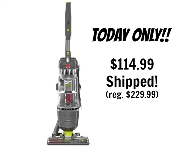 Hoover WindTunnel 3 Air Pro Bagless Upright Vacuum $114.99