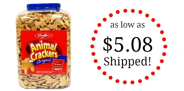 Stauffers Original Animal Crackers  4lb 14oz Tub as low as 508 Shipped  Become a Coupon Queen