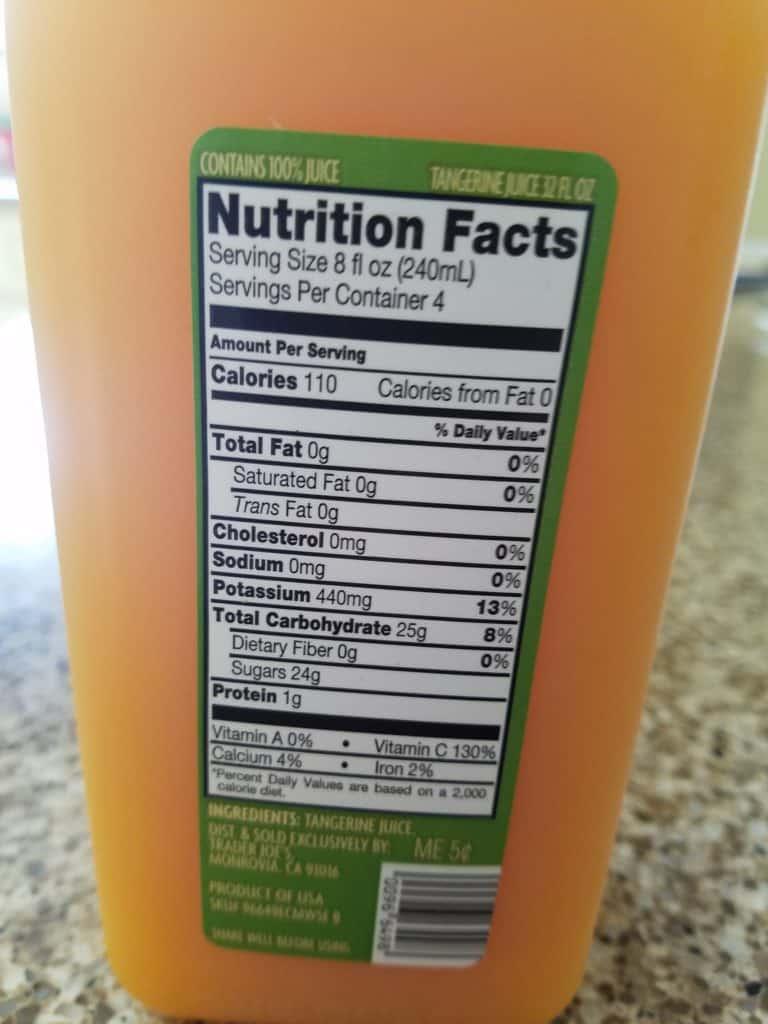 Trader Joe's Tangerine Juice