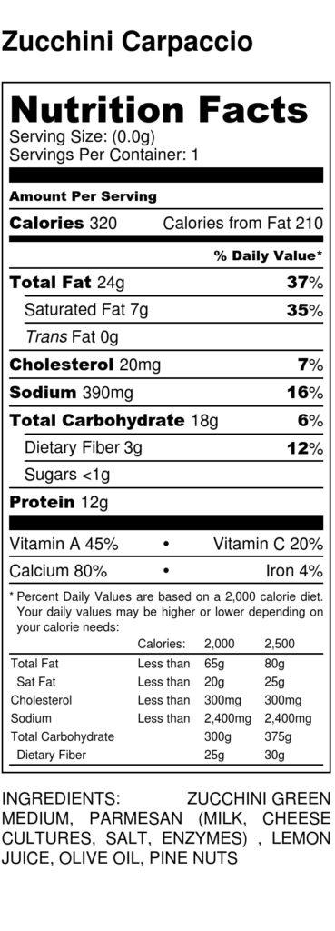 zucchini-carpaccio-nutrition-label