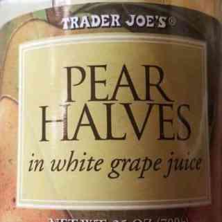 Trader Joe's Pear Halves