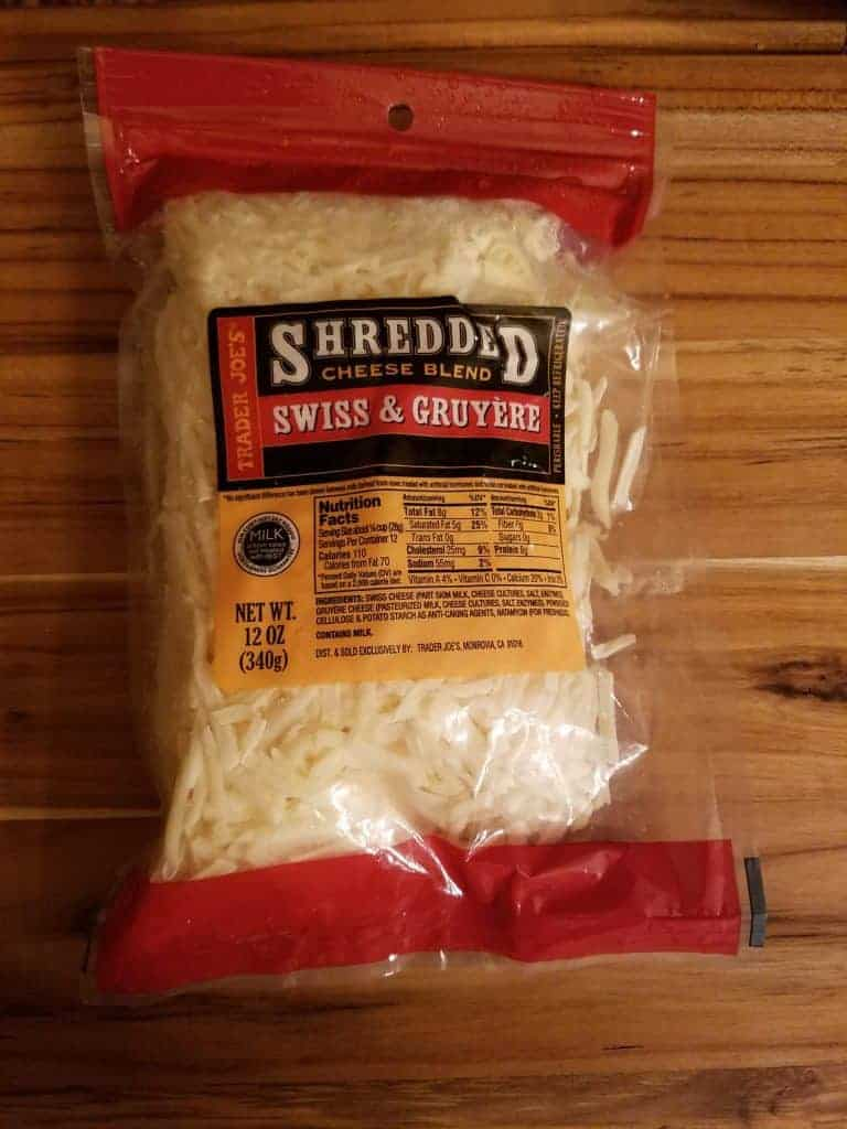 Trader Joe's Shredded Swiss and Gruyere Cheese