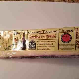 Trader Joe's Creamy Toscano Cheese Soaked in Syrah