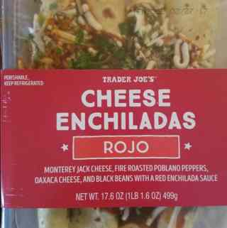 Trader Joe's Cheese Enchiladas Rojo