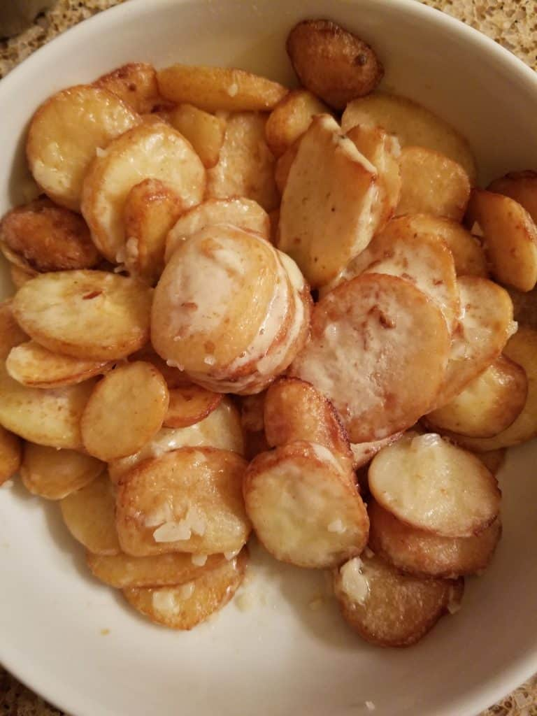 Trader Joe's Garlic Potatoes with Parmesan Sauce