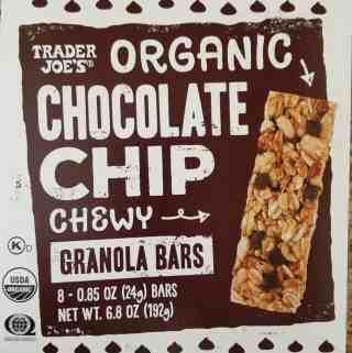 Trader Joe's Organic Chocolate Chip Granola Bars