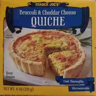 Trader Joe's Broccoli and Cheddar Quiche
