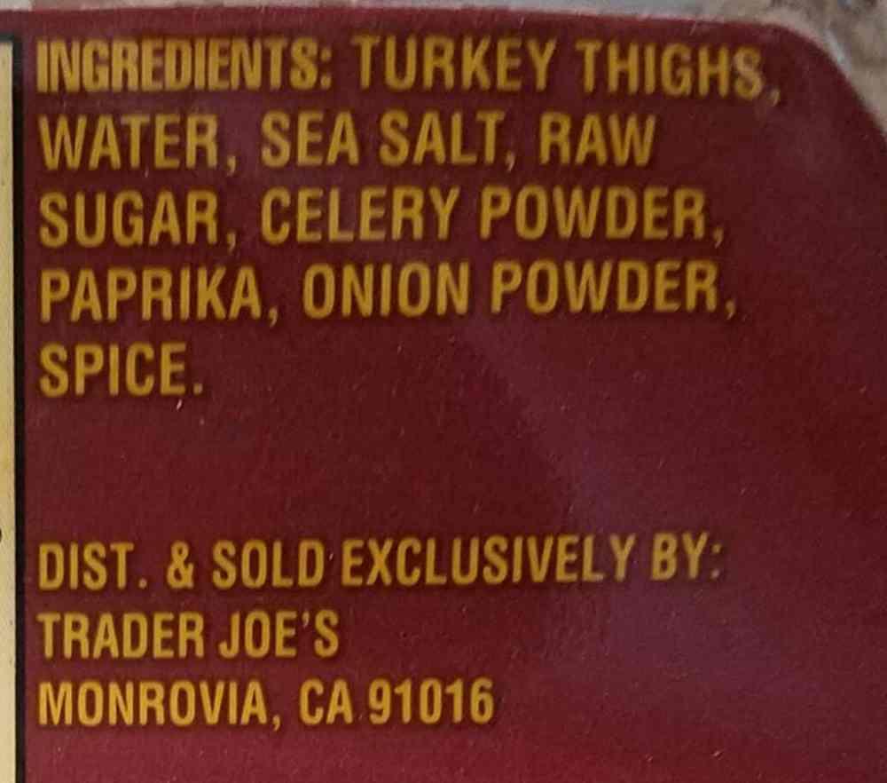 Trader Joe's Uncured Turkey Bacon
