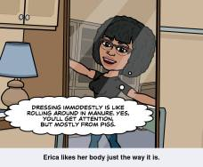 Dressing immodestly is like...