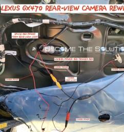 lexus gx470 rear view cmaera wiring rewire aftermarket reverse wires phoenix android radio [ 2000 x 1494 Pixel ]