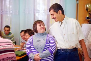 Downs Syndrome group at community center