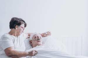 Spouse providing care at home