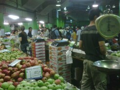 Shopped for cherries and other fresh produce at Paddy's Market