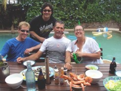 Christmas lunch with some true Aussies