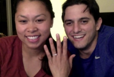Chat date with my cousin Stef, announcing her engagement to Pat