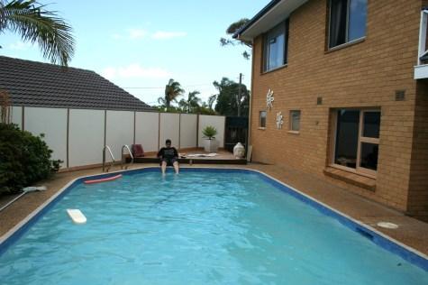 matt at the pool