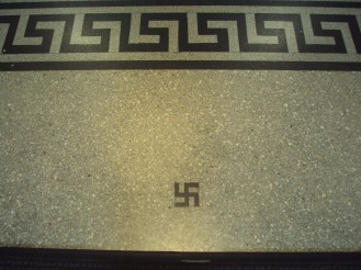 Oh you know, it's just one of the swastikas lining the flooring of the Customs House at Circular Quay.