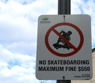 My memory is probably failing me but I don't remember there being actual fines for skateboarders in the US.