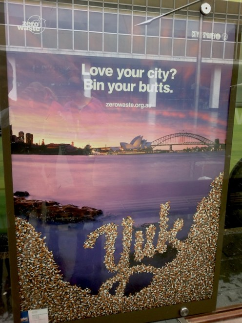"""""""Love your city? Bin your butts."""""""