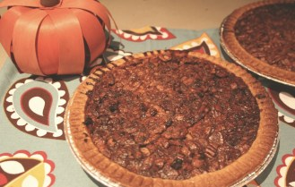 Making Southern pecan pie for Thanksgiving