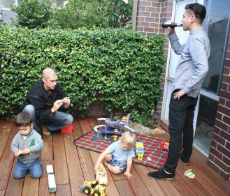 Uncle Andrei supervising kids