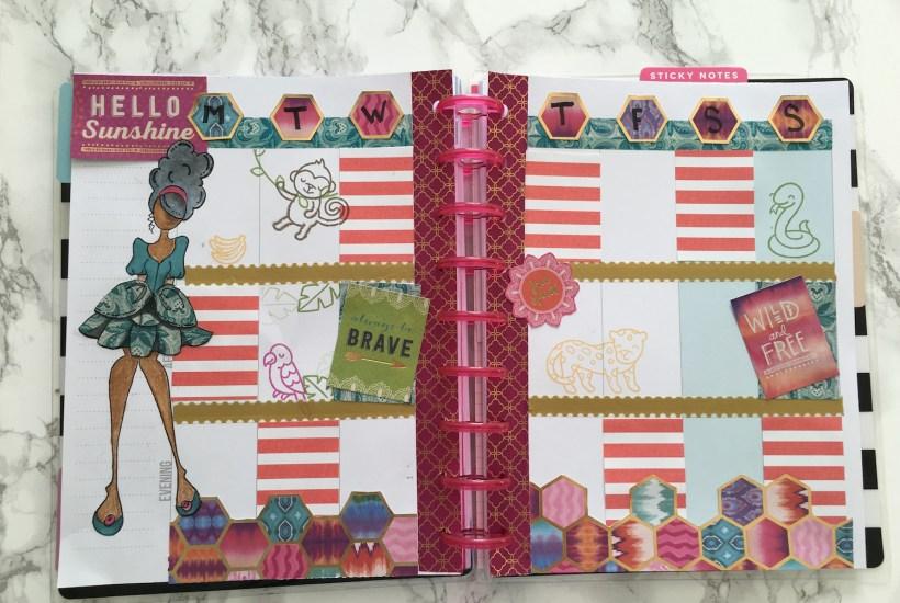 scrapbook journaling in the happy planner