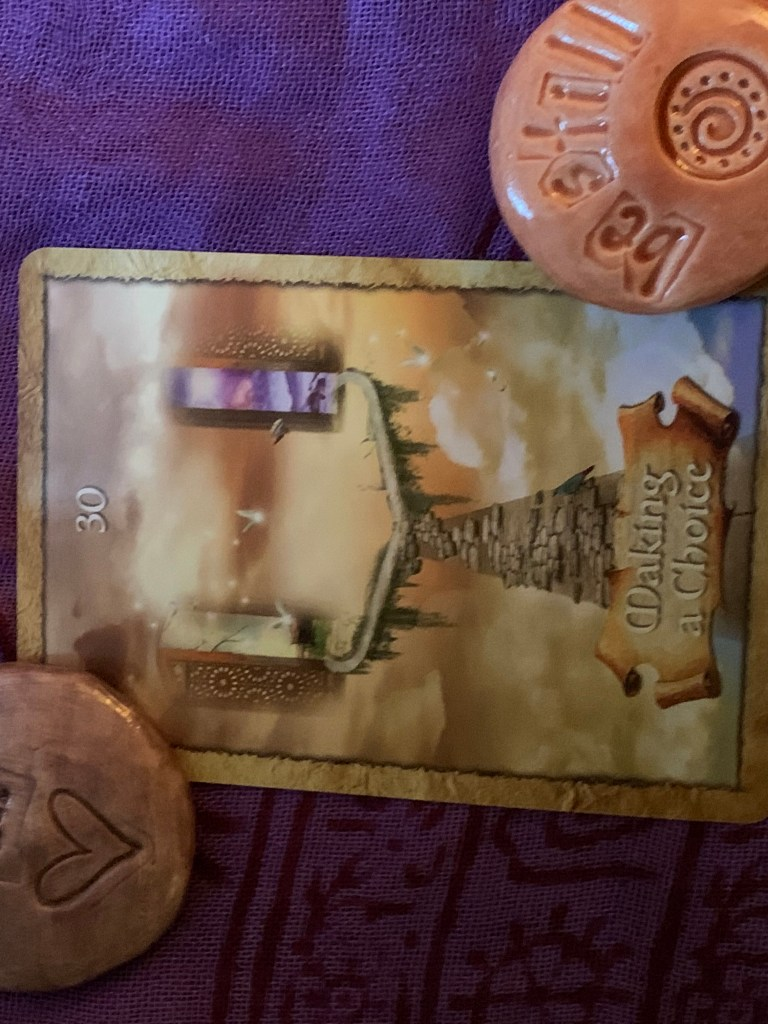 Card thirty for the enchanted map oracle deck: making a choice