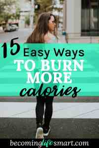 I love these super easy tips for burning calories. Now I can get some exercise without going to the gym.   lazy girl exercises   calorie burning tips   easy exercise   www.becominglifesmart.com