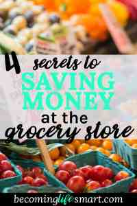 These grocery shopping tips are so great! I can't wait to try them and save money next time I go shopping.   saving money   grocery shopping on a budget   grocery list on a budget   frugal tips   www.becominglifesmart.com