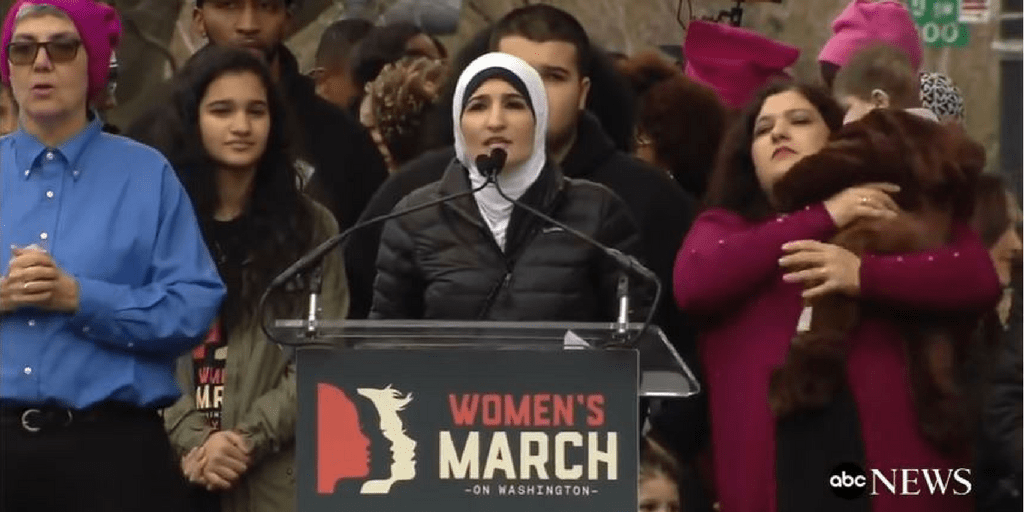 linda sarsour women's march 2017 washington d.c.