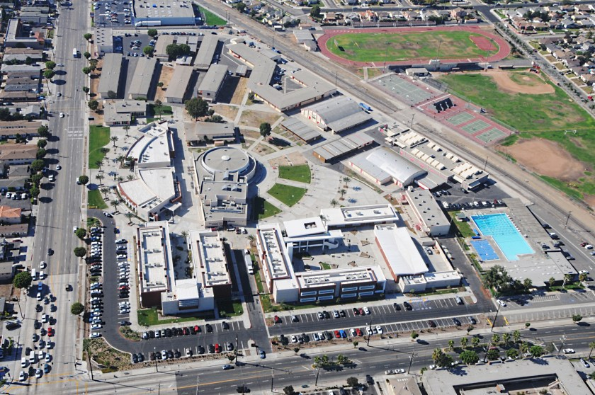 Hawthorne H.S. arial - present day