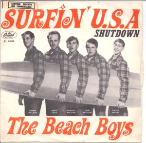 Surfin' U.S.A. picture sleeve from Italy