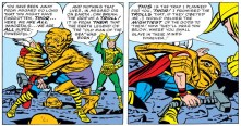 These trolls are actually kind of terrifying. Well done, Jack Kirby. (Avengers #1)