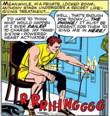 """Wow, it'd really be too bad if this really specific thing happened. Oh look, the phone!"" (Avengers #2)"