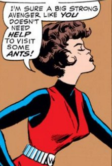 Jan's miffed face here is too good not to appreciate. (Avengers #12)