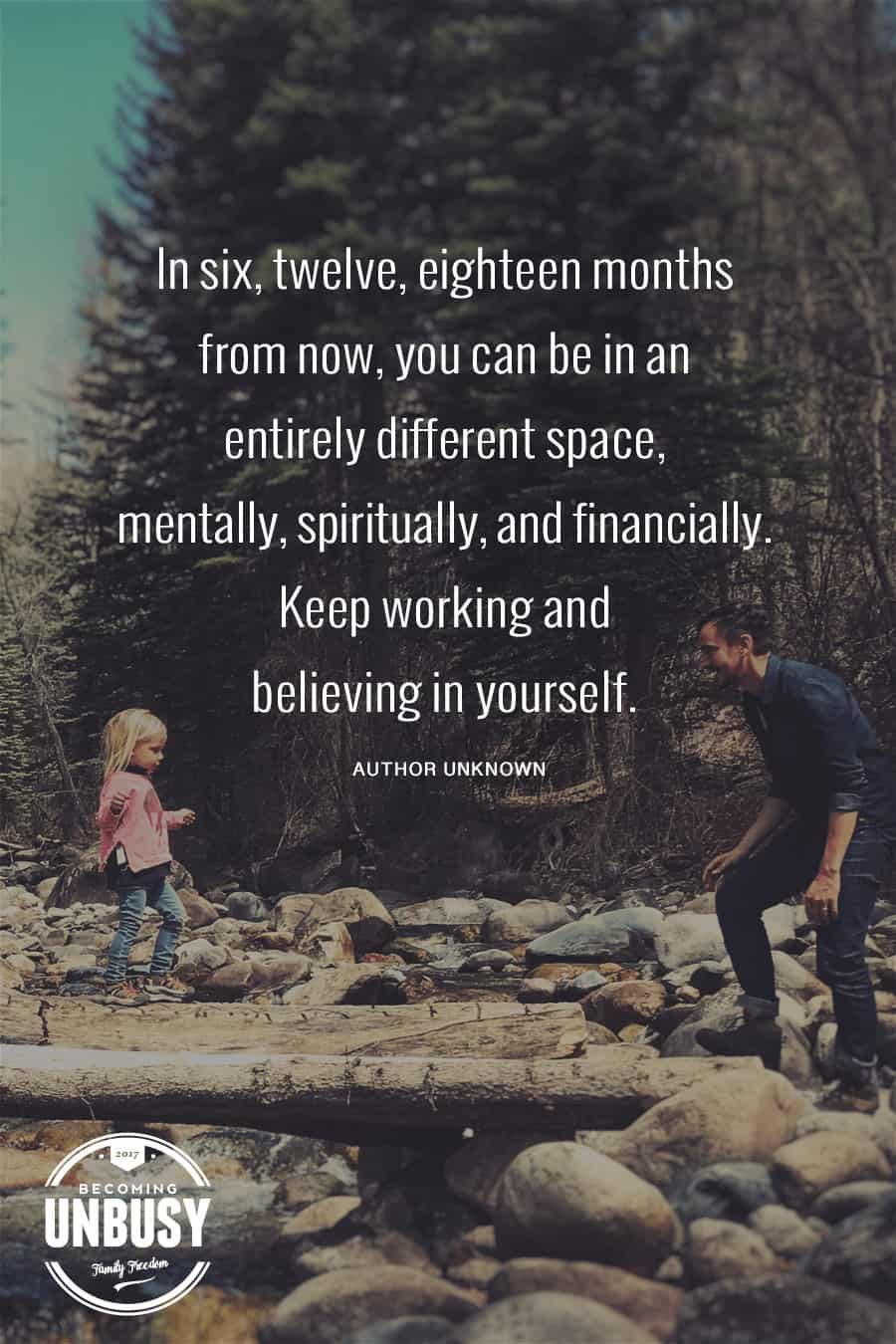 In six months from now you can be in an entirely different space, mentally, spiritually, and financially. Keep working and believing in yourself.