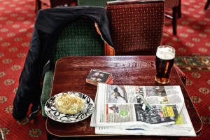 Lunch at the British Legion. Photo by Lewis Inman