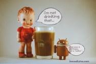 the brown juice...