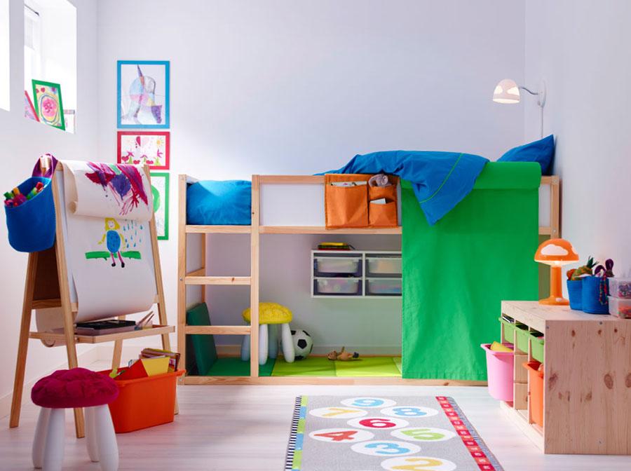 Ideas for keeping the kids bedroom tidy