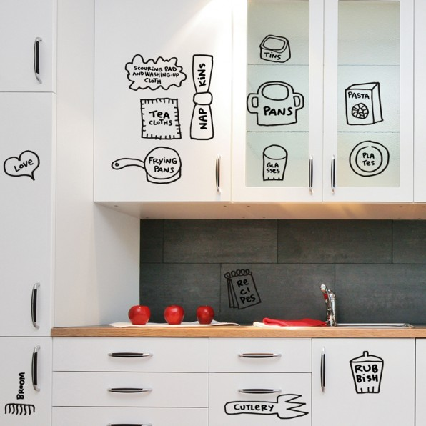 kitchen vinyl cooktops fun decals for decorating your that help organise cupboards