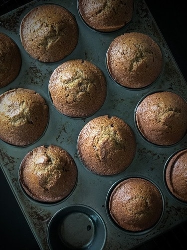 Image of the sticky date recipe made in a cupcake tray