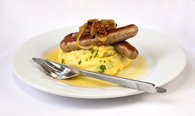 Mashed Potatoes and sausages