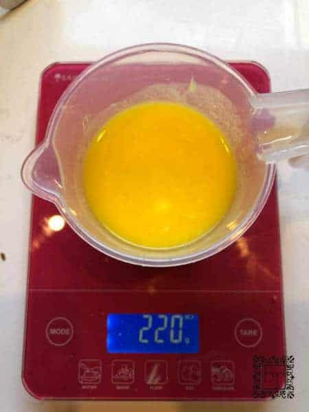 Image of melted butter and egg